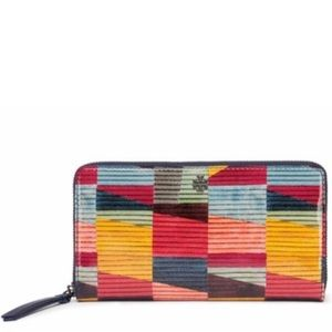 Tory Burch Multicolor Patent Leather Wallet Clutch